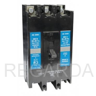 Выключатель автоматический: АЕ 2066-100-00 УЗА 125А
