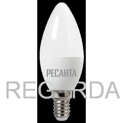 Лампа светодиодная РЕСАНТА  LL-R-C37-6W-230-4K-E14