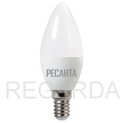 Лампа светодиодная РЕСАНТА  LL-R-C37-5W-230-3K-E14