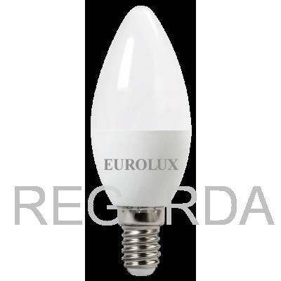 Лампа светодиодная EUROLUX  LL-E-C37-7W-230-4K-E14