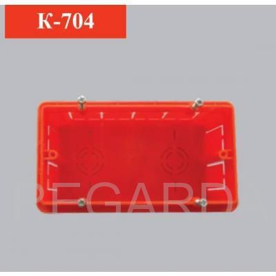 Коробка электромонтажная четырехместная прямоугольная