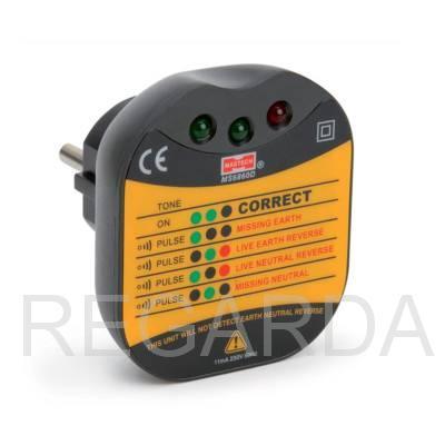 Тестер электросети для евро-розеток MS6860D