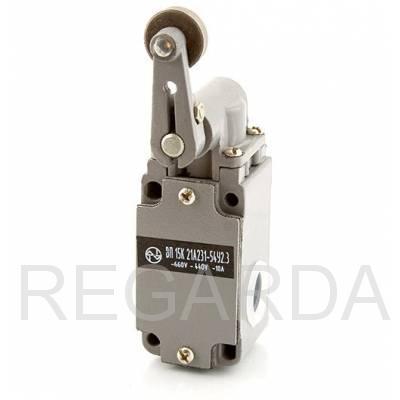 Выключатель путевой: ВП15К21А(Б)231-54У2.3  (рычаг с роликом, полумгновенного действия)