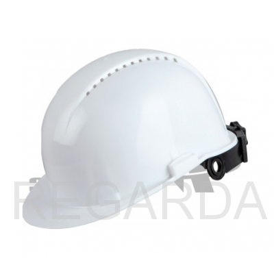 Каска защитная для строительно-монтажных работ с храп. механизмом белая ЮНОНА+