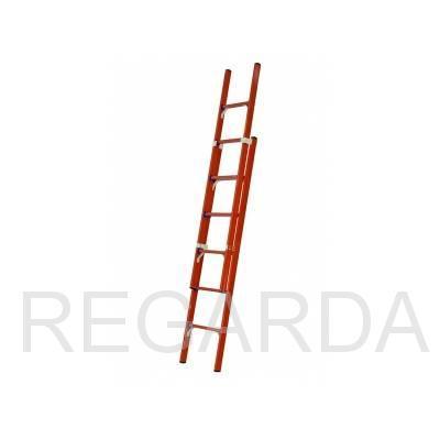 Лестница стеклопластиковая приставная раздвижная диэлектрическая: ЛСПРД-7,0 Евро К