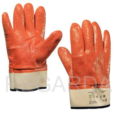 Перчатки морозонефтемаслостойкие (манжет-крага) с КРОШКОЙ