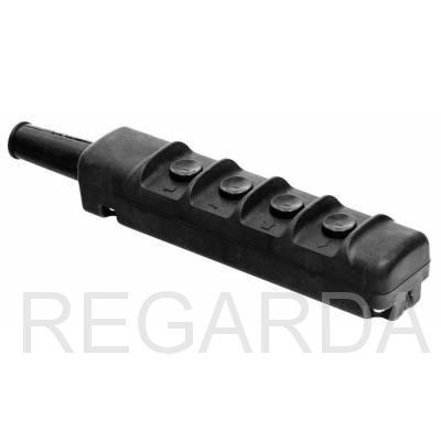 Пост кнопочный тельфера 4-кн. ПКТ-40, 6,3А, IP30, вверх, вниз, влево, вправо (с ключом защиты)