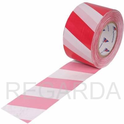 Лента оградительная: 75х250 (красно-белая)