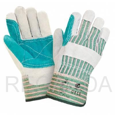 Перчатки спилковые комбинированные усиленные