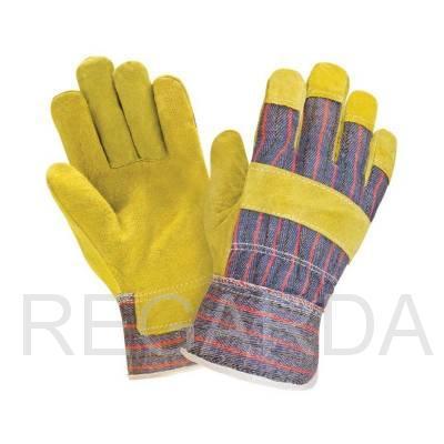 Перчатки спилковые комбинированные утеп