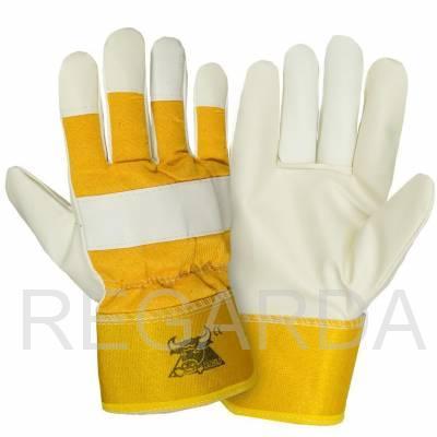 Перчатки кожаные комбинированные: утепленные