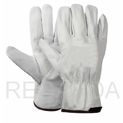 Перчатки кожаные  Люкс белые