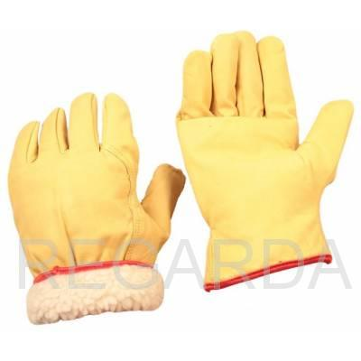 Перчатки кожаные утепленные  мех мутон