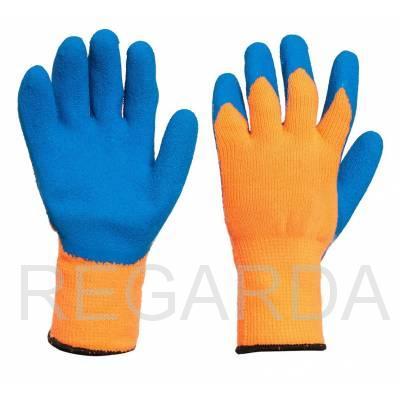 Перчатки акриловые: с рельефным латексным покрытием: 10 класс
