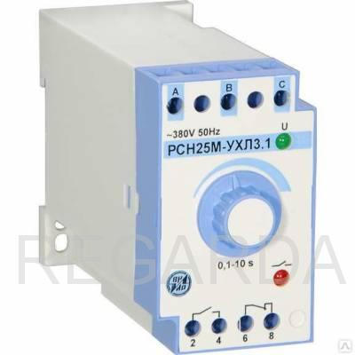 Реле контроля трехфазного напряжения РСН-25М 380В 50Гц 0,1-10с. Защ