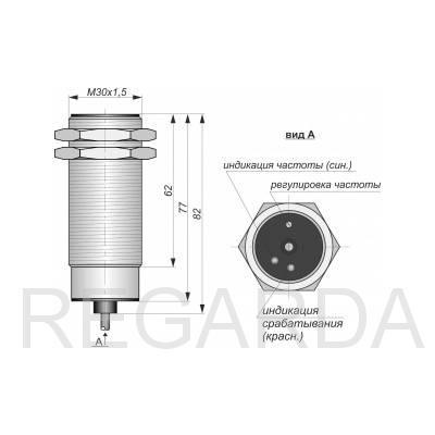 Датчик контроля скорости ИДС-25-NC-AC-Z-50(Л63)