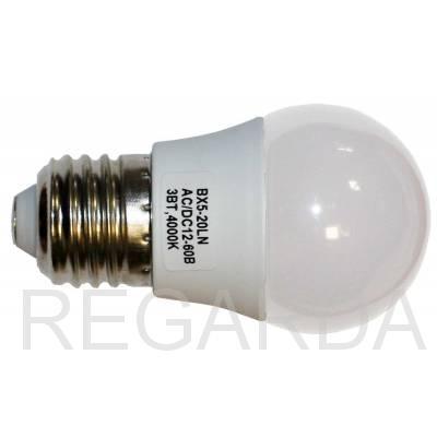 Лампа LED TauRay E27, 3w, AC/DC 12v-60v, > 240 Лм, 4000К (82х45мм)
