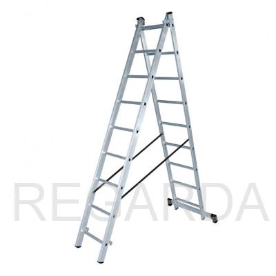 Лестница алюминиевая  ВИХРЬ ЛА 2х9