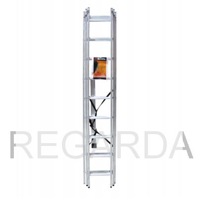 Лестница алюминиевая  ВИХРЬ ЛА 3х9